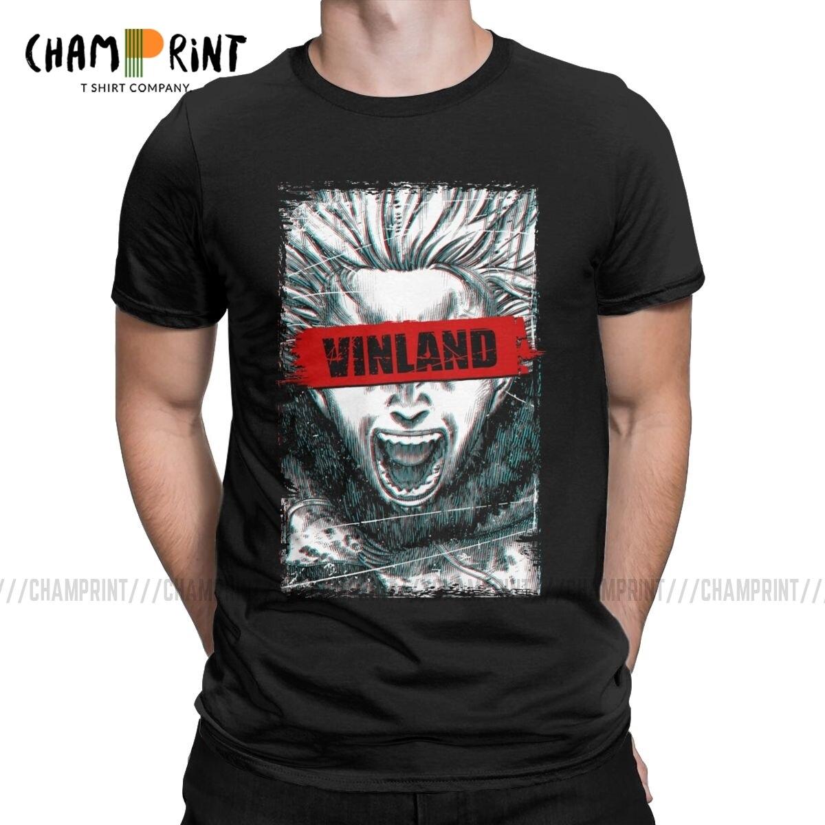 Camisetas vinland saga pinfinn anime, camisetas para homens, viking otaku manga, vintage, de algodão puro, gola redonda, camisetas originais topos