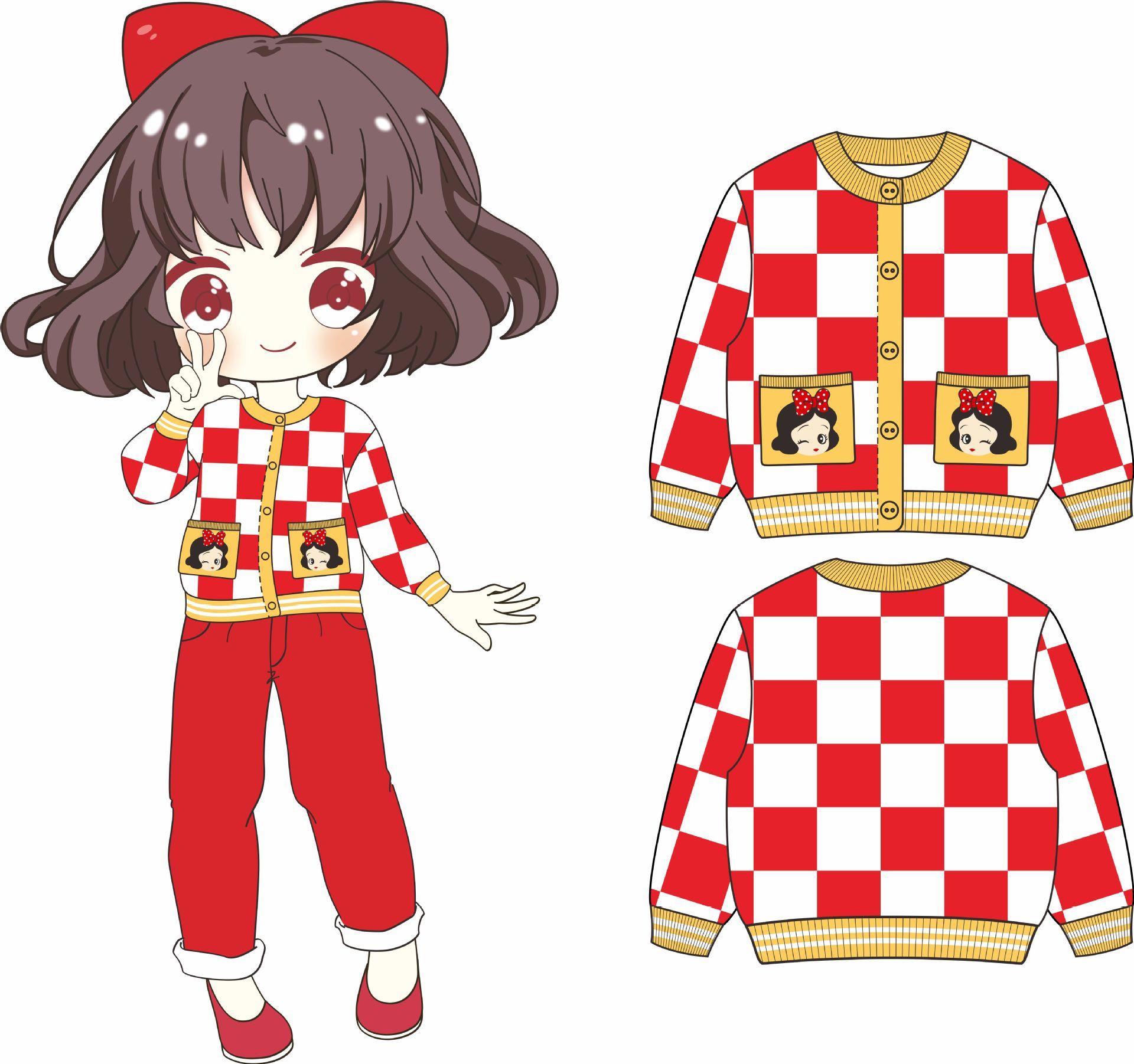 Suéter para niñas, abrigo rojo blanco a cuadros, suéter de otoño para niños pequeños, cárdigan de manga larga para niñas, ropa tejida para niñas