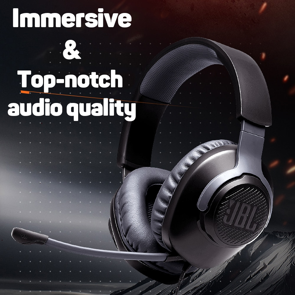 JBL QUANTUM100 Gaming Headset 7.1 with Mic Microphone Foldable Headphones for PS4 for Nintendo Switch for Xbox One PC TV Phone enlarge