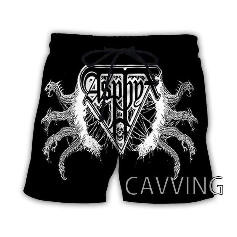 New Fashion Women/Men's 3D Print  ASPHYX  Band  Summer Beach Shorts  Streetwear Men Quick Dry Vacati