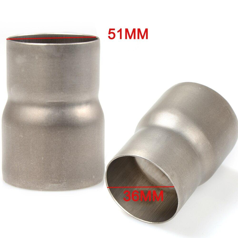 Motocicleta Universal tubo de escape 51-61mm 61mm 51mm cabezal de soldadura de conectar el adaptador 60-51mm 51-38mm reductor conector de tubo