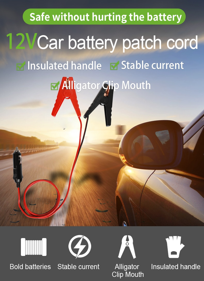 Sugineo Accessory 12V Car Battery Patch Cord Charge The Car When Car Power Stop