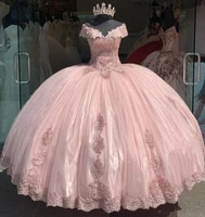 2021 high quality ball gown quinceanera dresses lace appliques sequins beaded corset princess sweet 16 prom party gowns bm694