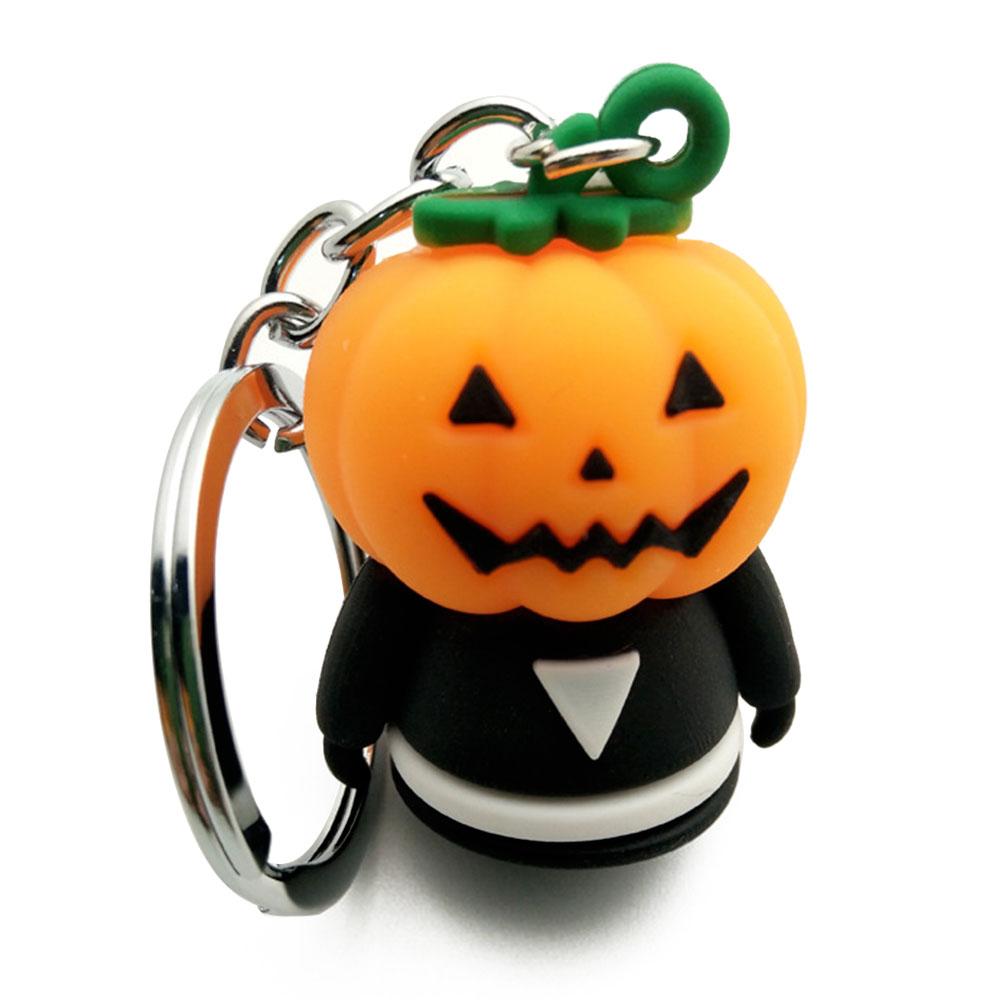 LLavero de coche llavero de coche creativo hebilla de llave de Halloween diablo PVC 1 Uds moda