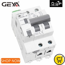 Disjoncteur automatique GEYA Din Rail Mini disjoncteur GRD9L-R GYM9 2P MCB 6KA Smart MCB