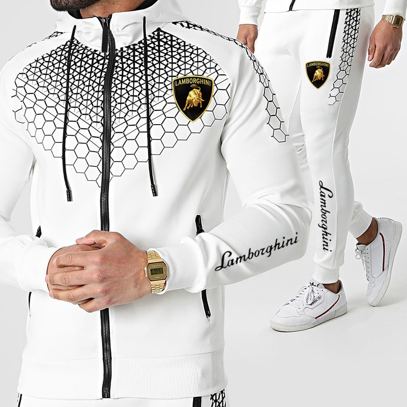 AliExpress - Men Casual Sets 2021 Winter New Brand Splice Jogger Tracksuit Zipper Hoodies+Pants 2PC Sets Men's Sportswear Sport Suit Clothing