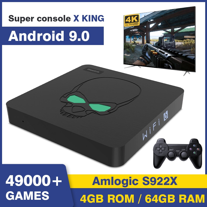 Retro Video Game Consoles Beelink Super Console X King 49000+ Classic Games For SS/PSP/PS1/N64/MAME/DC Android TV9 WiFi 6