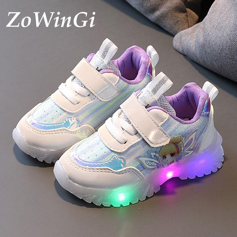 Tamanho 21-30 meninas sapatos de fadas flor das crianças tênis crianças casuais sapatos brilhantes tenis infantil menina