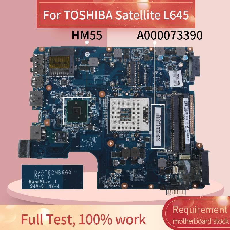 A000073390 اللوحة المحمول لتوشيبا L645 مفكرة اللوحة DA0TE2MB6G0 HM55