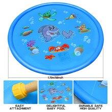 Aspersor para niños, piscina de protección contra salpicaduras para aprendizaje, piscina de riego para niños, juguetes inflables para agua, piscina al aire libre