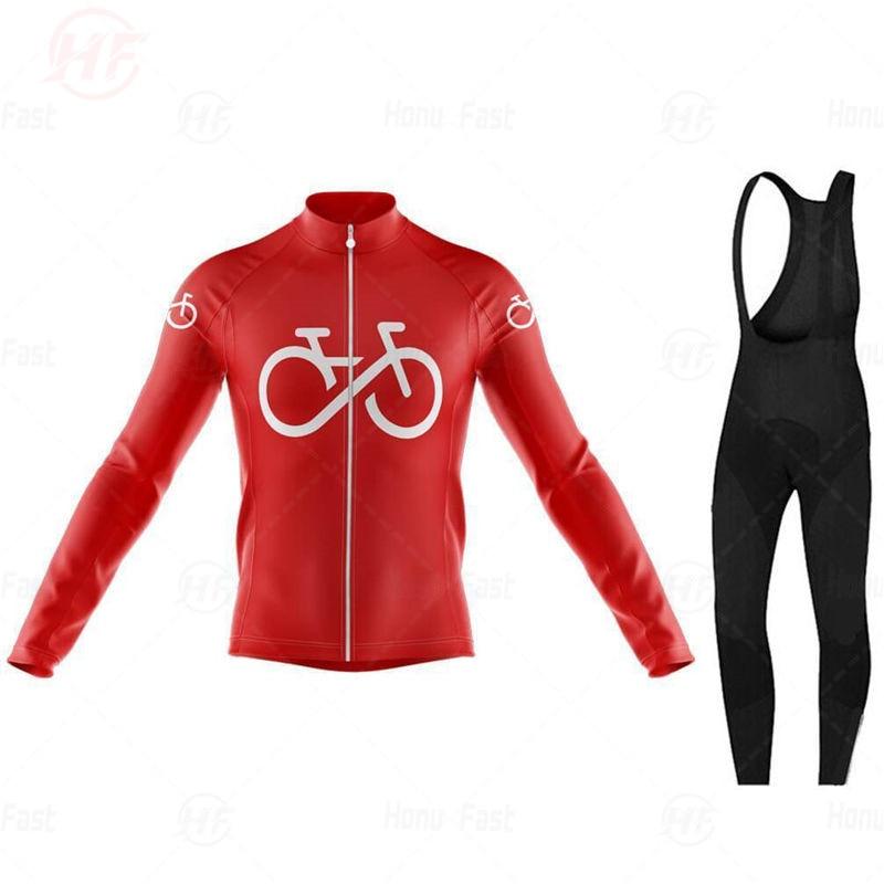 Multicolor Pro Ciclismo Jersey conjunto de manga larga transpirable MTB bicicleta Ropa desgaste bicicleta Ciclismo Ropa Maillot Ciclismo