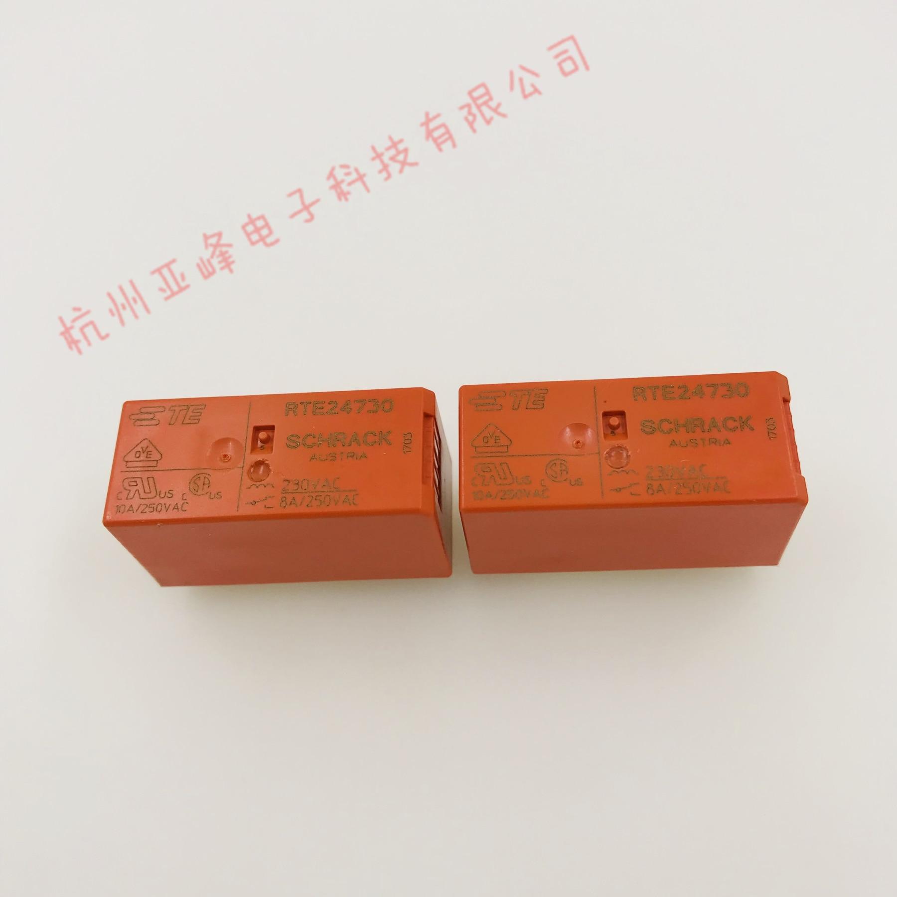 Brand New & Original Te Tyco Relé 8 RTE24730 Dois Conjuntos de Conversão-Pin 8A HF115F-A-230-2ZS4