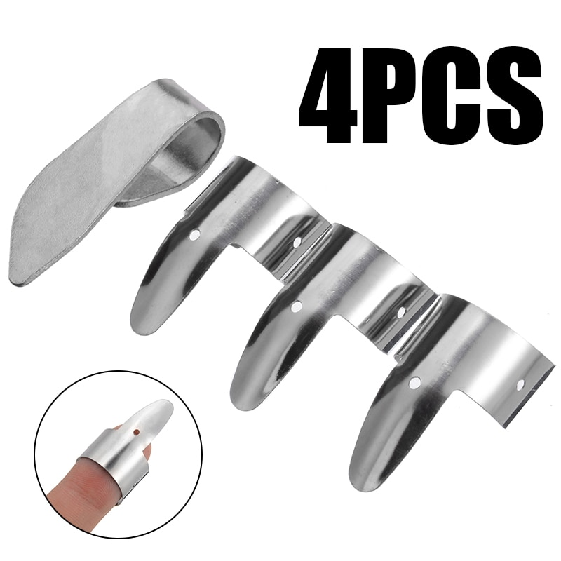 Durable 4 unids/set de guitarra Fingerpicks plectros de tubo accesorios de guitarra