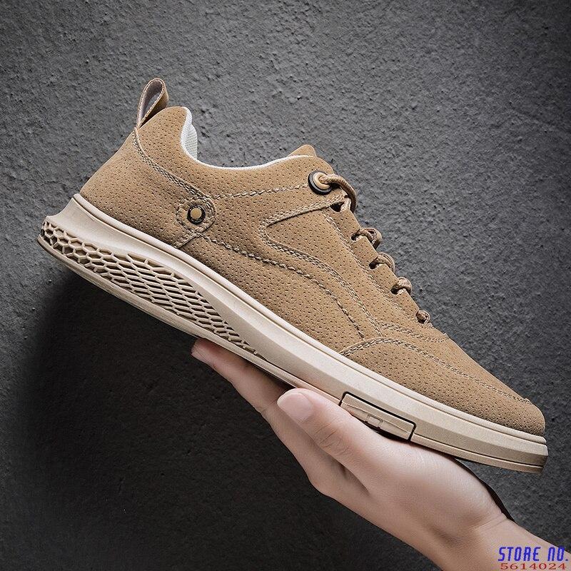 Zapatos informales de cuero para Hombre, mocasines transpirables, planos a la moda,...