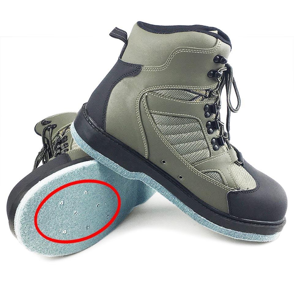 Ботинки для рыбалки нахлыстом охотничьи ботинки восхождения фетровая