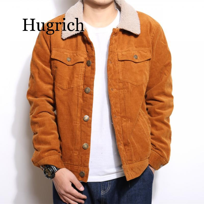 2020 Men s handsome corduroy trend jacket youth casual lapel lamb dovetail denim in the spring