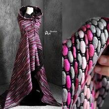 نسيج متشابك اللون مطابقة التباين نسيج الصوف معطف مصمم الأقمشة الأصلية لخليط