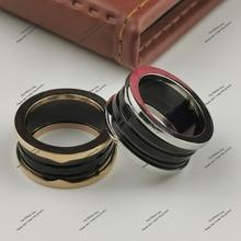 Original brand titanium steel ring for men and women white black ceramic ring Valentine's Day gift h