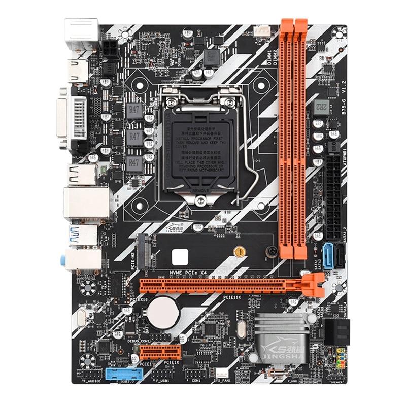 JINGSHA B75-G اللوحة الأم الكمبيوتر سطح المكتب لوحة صغيرة LGA 16G 1155CPU دبوس DDR3 الذاكرة بار واجهة DVI