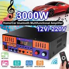 Amplificateur de puissance Audio bluetooth 3000W voiture maison numérique HIFI amplificateur stéréo 2 canaux amplificateurs USB FM SD avec télécommande