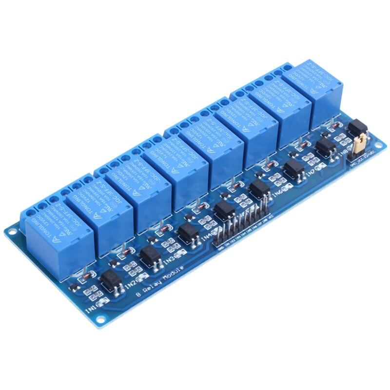 8 canal DC 12V módulo del relé PLC control de relé con optoacoplador