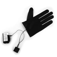 1pc five finger gloves dc 7 4v interface electric heating pads lithium battery power supply three speed thermostat heating sheet