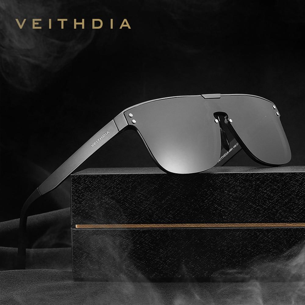 Veithdia moda masculino retro alumínio óculos de sol polarizados espelho lente uv400 vintage acessórios óculos de sol para homem 6881