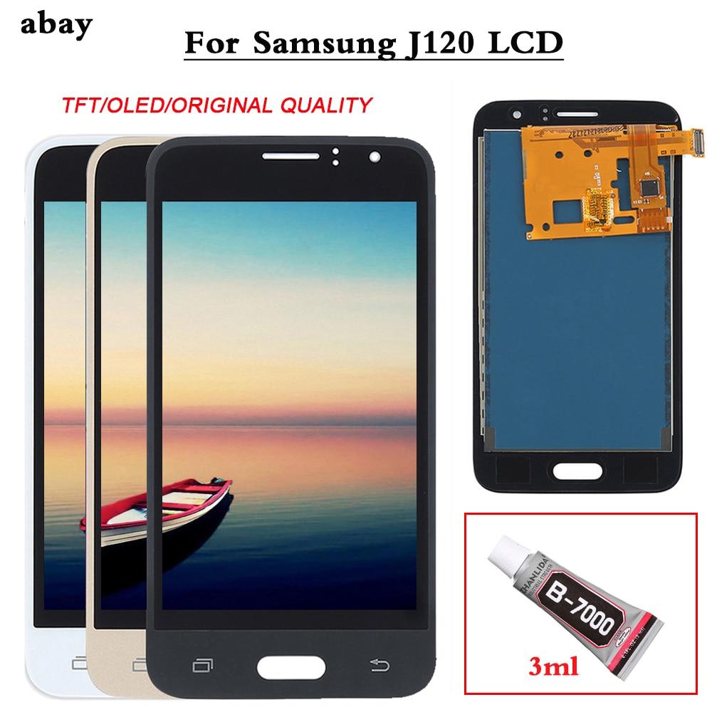 J120F LCD For Samsung Galaxy J1 2016 J120 J120F LCD Display Touch Screen Assembly For Samsung J1 2016 J120 SM-J120F Display OEM