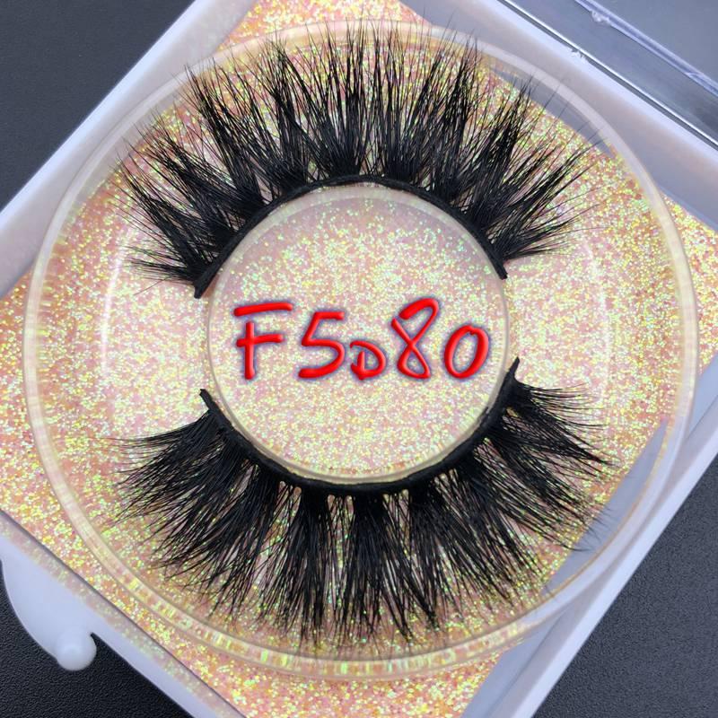 Caso quadrado f5d glitter caixa mikiwi 25mm longo 5d vison cílios longos cílios de longa duração grande volume dramático cílios