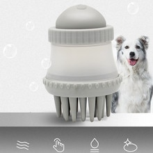 New Multifunctional Round Dog Bath Massage Brush Dog Bath Liquid Storage Pet Cleaning Beauty Tools P