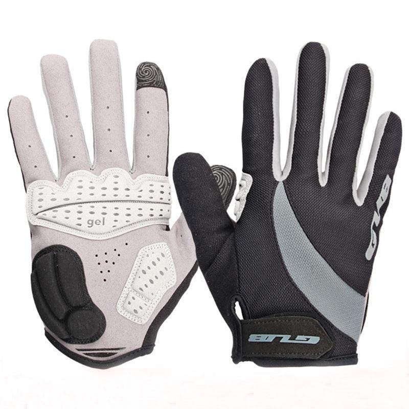 Guantes cálidos para ciclismo de dedos completos, guantes de Gel de Dedo Largo para el invierno, para bicicletas de montaña o de carretera