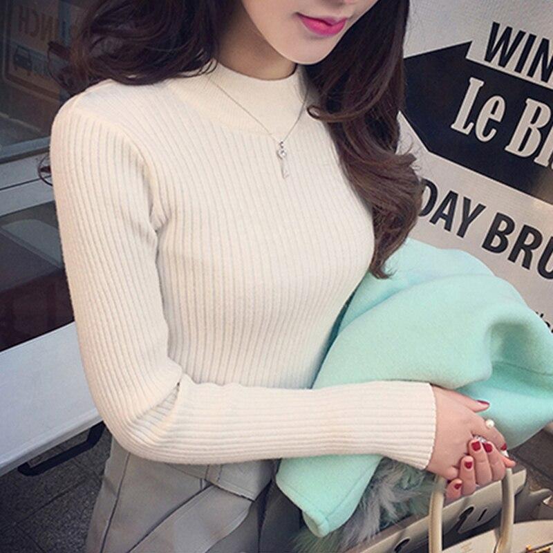 Sueters de mujer moda 2019 Women Autumn Winter Pullover Sweaters Sexy Slim Maglioni donna Knitting Winter Tops for Women