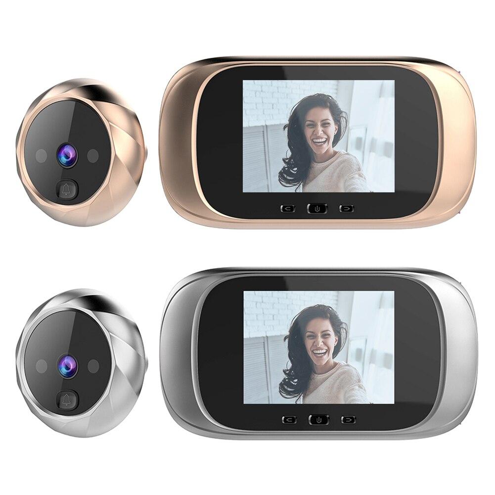 جرس باب رقمي مع شاشة LCD ، 2.8 بوصة ، رؤية ليلية ، الأشعة تحت الحمراء ، كاميرا إلكترونية ذكية ، عدسة الكاميرا