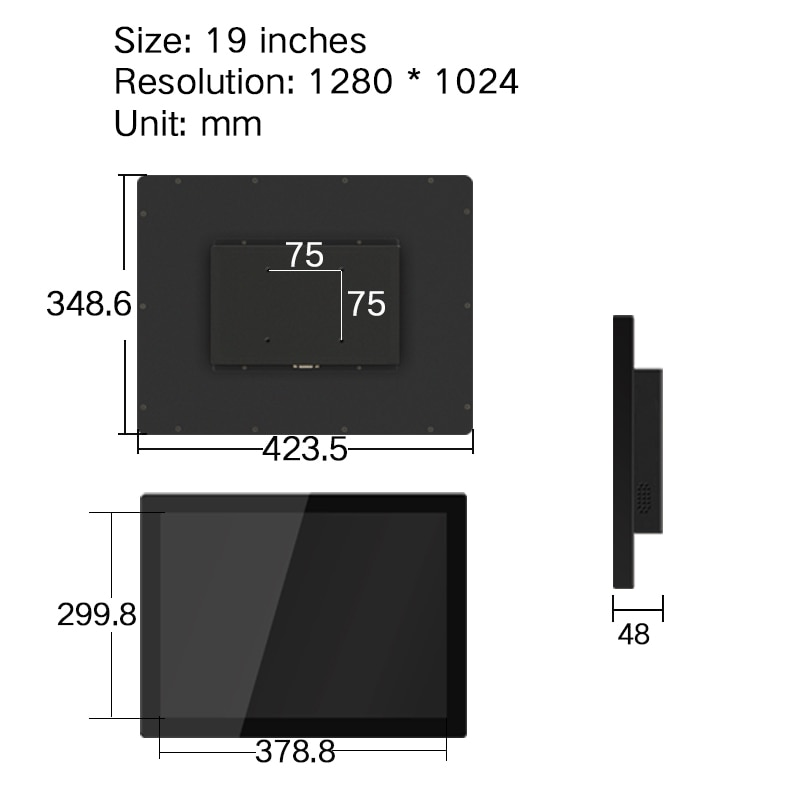 19'' Inch LCD Display Monitor for Tablet in Computer screen HDMI VGA DVI USB Desktop Screen Capacitive Touch Screen 1280*1024 enlarge