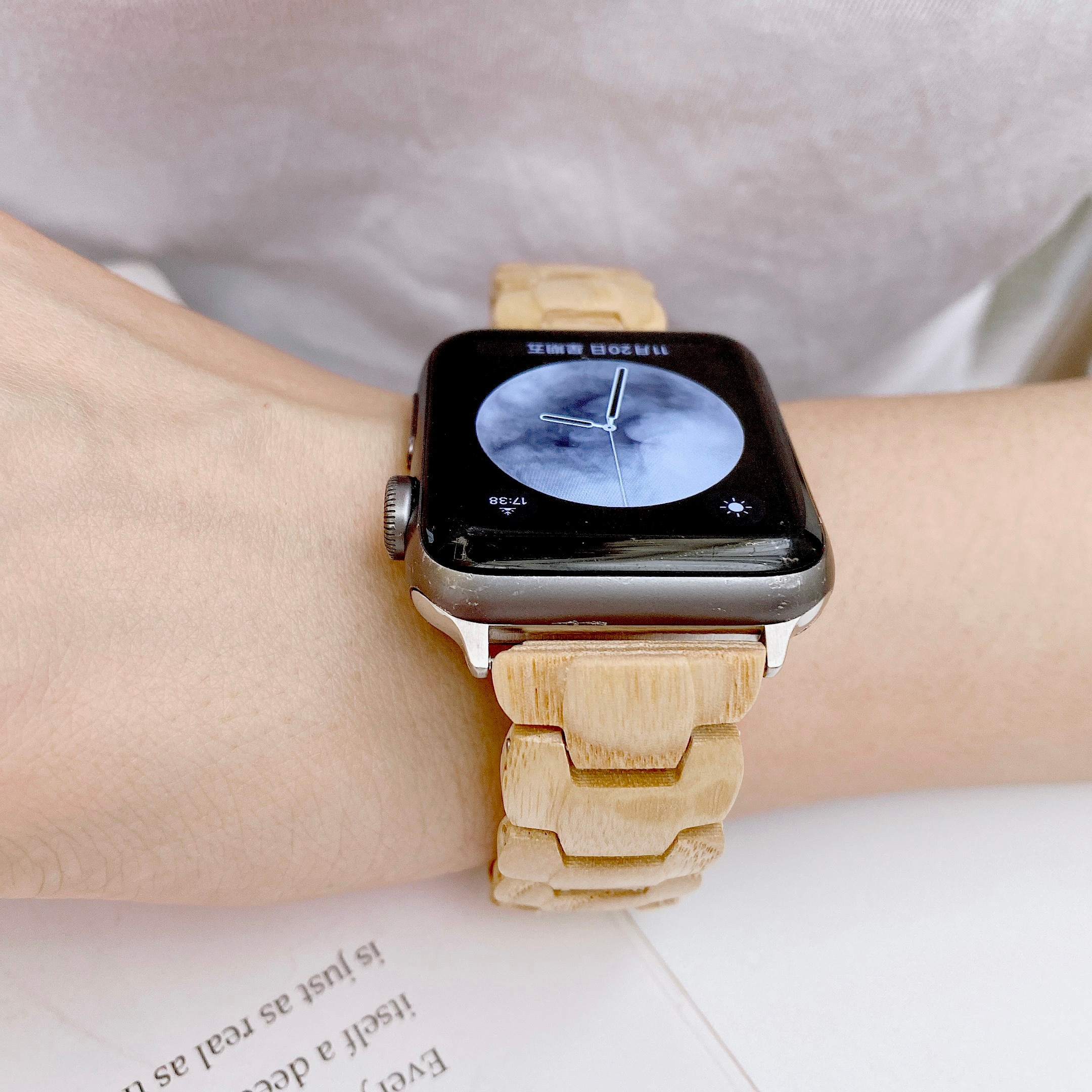 Wooden Sandalwood Strap for Apple Watch 3 Band 44mm 40mm Watchband Serice 5 4 2 1 Steel Buckle for Apple Watch 6 Strap 38mm 42mm enlarge