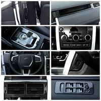 yimaautotrims carbon fiber look interior refit kit air ac panel gear box cover trim for land rover discovery sport 2015 2020