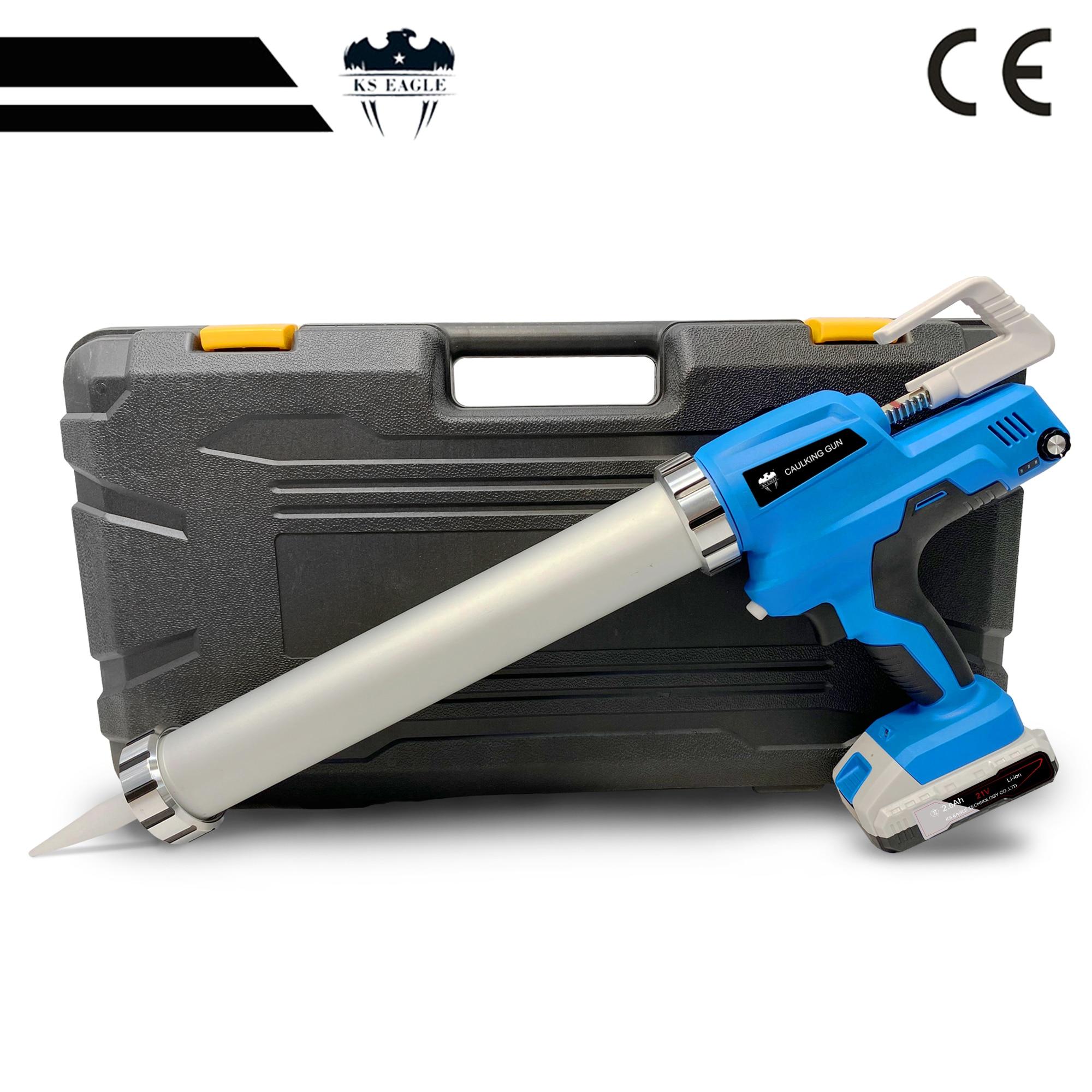 Electric Cordless Caulking Gun With Li-Batteries 21V  DIY Electric CorHandheld Glass Hard Rubber Sealant Guns Tool