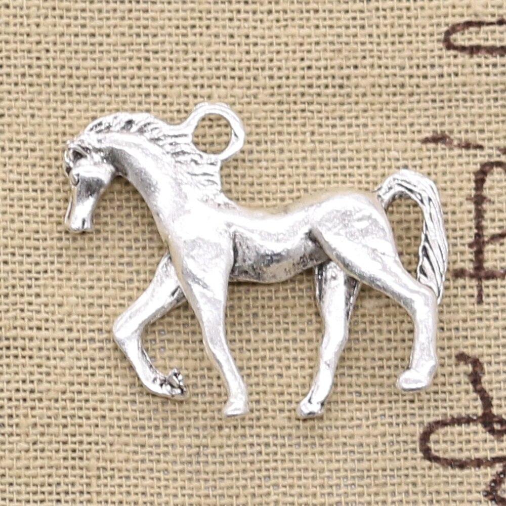 6 pièces breloques marche cheval 32x27mm Antique argent couleur pendentifs bricolage artisanat faisant des résultats à la main bijoux tibétains