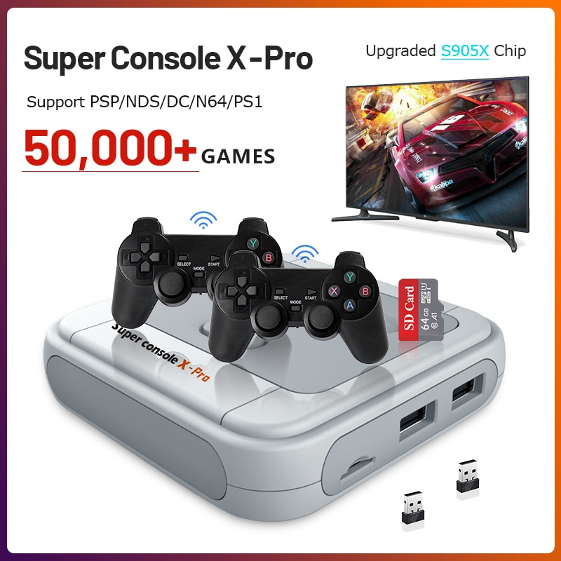 Portable Retro Game Console for PS1/PSP 50000+ Games HDMI-compatible Mini TV Video Game Console Support Wifi/Wireless Controller