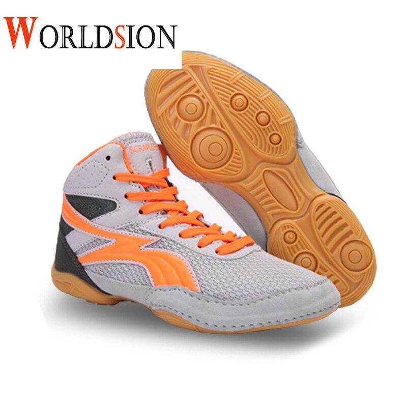 Chaussures de lutte pour enfants professionnels taille 30-36 baskets de boxe légères garçons filles baskets de lutte enfant chaussures de boxe