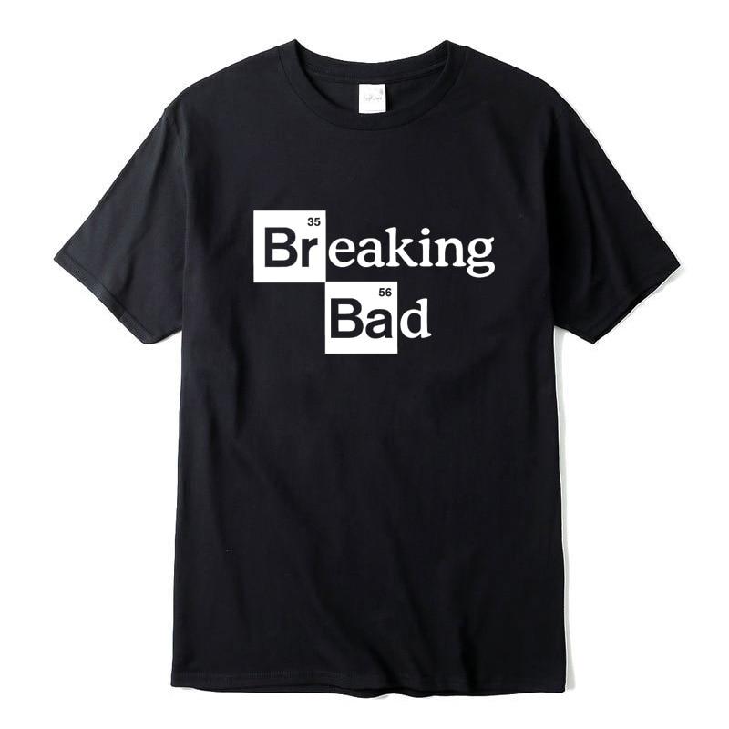 XIN YI Men's T-shirt high quality100%cotton O Neck Heisenberg Men T-shirt Short Sleeve Casual Breaking Bad Print T shirt For Men xin yi men s t shirt100