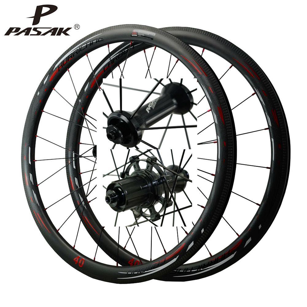 700C عجلات الألياف الطريق دراجة مصباح عجلة الدراجة الكربون الطريق العجلات V/C Brakes50/40/55/الكربون الفاصلة لاسلريم مباشرة سحب
