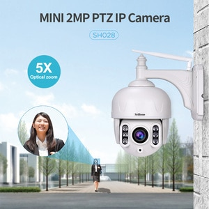 Srihome SH028 3.0MP Outdoor IP Camera Waterproof 5X Optical Zoom Wifi Camera 360 P2P 2-Way Audio Wireless Surveillance CCTV PTZ