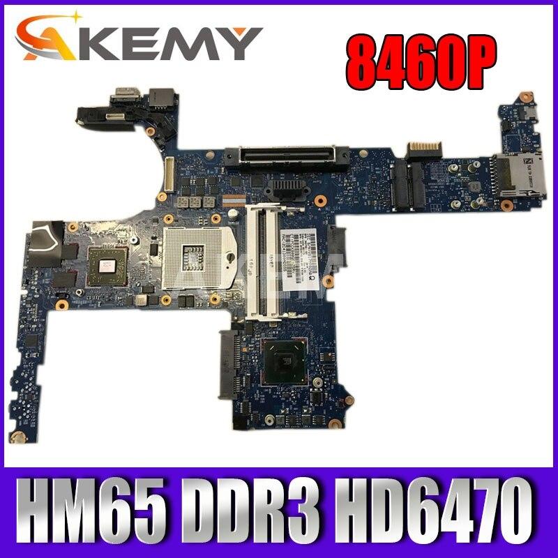 اللوحة الأم HM65 DDR3 HD6470 للكمبيوتر المحمول ، 642754-001 6050A2398501 للكمبيوتر الدفتري HP EliteBook 8460P