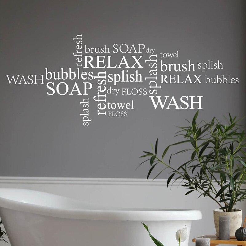 Burbujas para el baño, pegatina de arte para la pared, calcomanía de vinilo, transferencia moderna, decoración del hogar