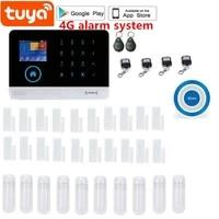 Systeme dalarme de securite domestique  wi-fi  4G sim GSM  2 4    controle a distance avec application Tuya
