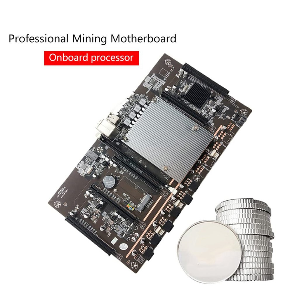 BTC Mining Motherboard BTC79X5 V1.0 LGA 2011 DDR3 Supports 32G 60mm Pitch Support RTX3060 Graphics Card for BTC Miner