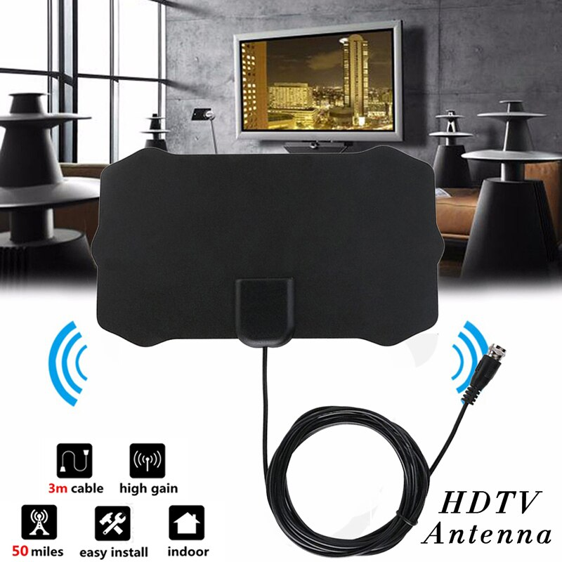 2019Newest Small Shield Design TV Antenna High Quality HDTV Antenna HD Digital Antenna Indoor 60 Miles Range TV Antenna Receptor
