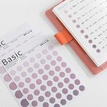 6pcs/set Random color Feature Circle Index Cute sticker Calendar Remarks week plan date sticker Decorative paper school Supplies