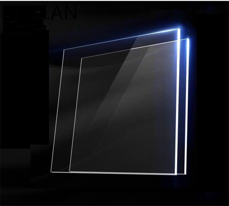 2 قطعة كبيرة مربع شبكي شفافة واضحة البلاستيك ورقة الاكريليك مجلس العضوية الزجاج ميتاكريلات سمك 1 مللي متر
